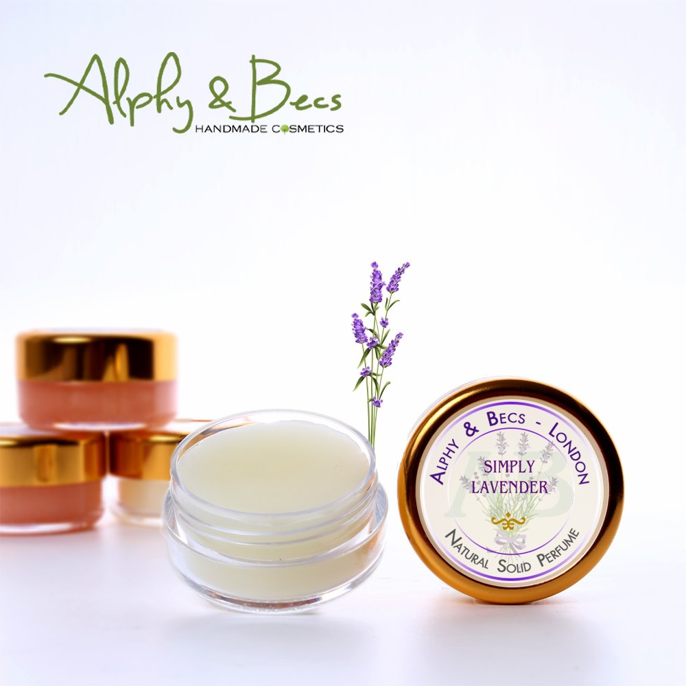 1pc - Natural Solid Perfume for Women - No.3 SIMPLY LAVENDER in a Pot - 10 ml Alphy & Becs