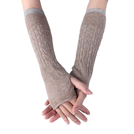 Vertvie Damen Gestrickte Lange Handschuhe Winter Warmer Handstulpen ...