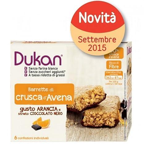 Barras de avena Dukan En Bran en el chocolate y naranja 6 Piezas