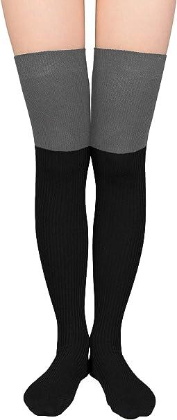Women Cotton Fashion Sport Striped High Socks Hosiery Casual Solid Stockings New