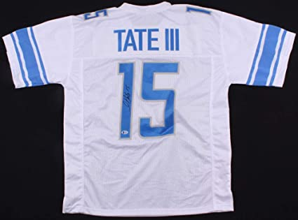 huge discount 86bbf 302dc Golden Tate Autographed Signed Detroit Lions White Jersey ...