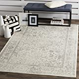Safavieh Adirondack Collection ADR109C Ivory and Silver Square Area Rug, 10 Feet Square