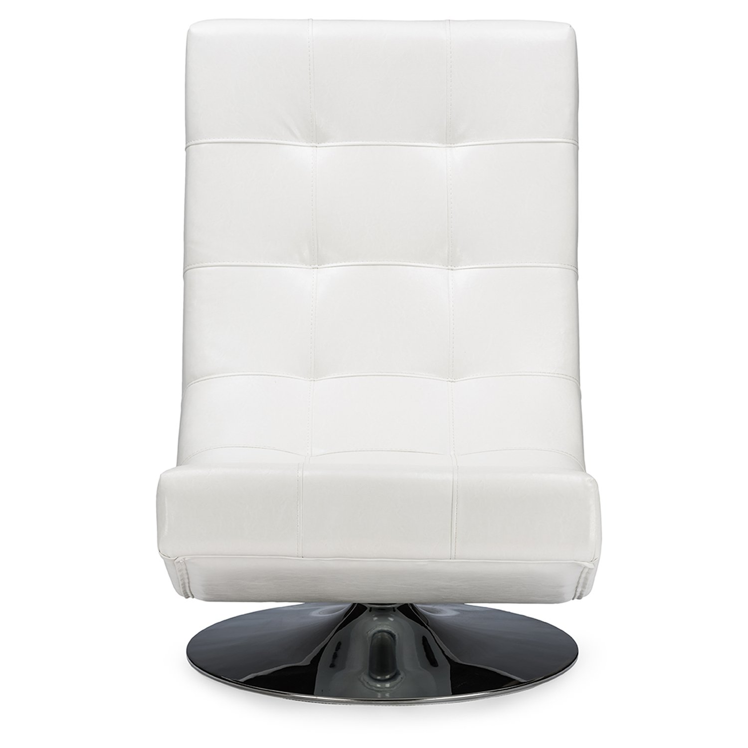 Delightful Amazon.com   Wholesale Interiors Baxton Studio Elsa Faux Leather Upholstered  Swivel Chair With Metal Base, Large, White   Chairs