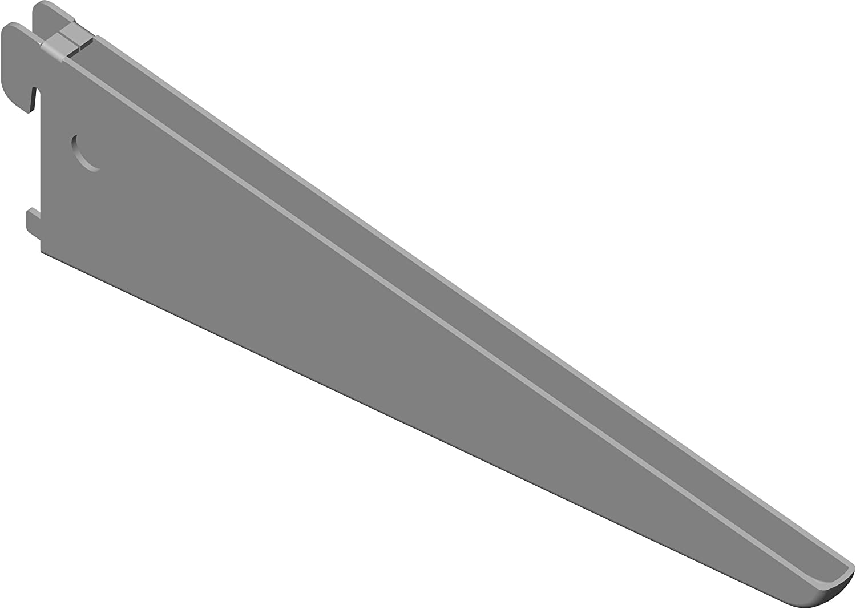 wei/ß Wandschiene Element System U-Tr/äger Regaltr/äger 2-reihig 2 St/ück 5 Abmessungen 3 Farben L/änge 27 cm f/ür Regalsystem