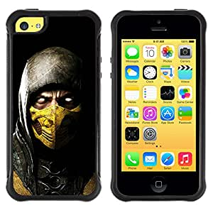 BullDog Case@ SCORPION MK MORTAL COMBAT Rugged Hybrid Armor Slim Protection Case Cover Shell For iphone 5C CASE Cover ,iphone 5C case,iphone5C cover ,Cases for iphone 5C