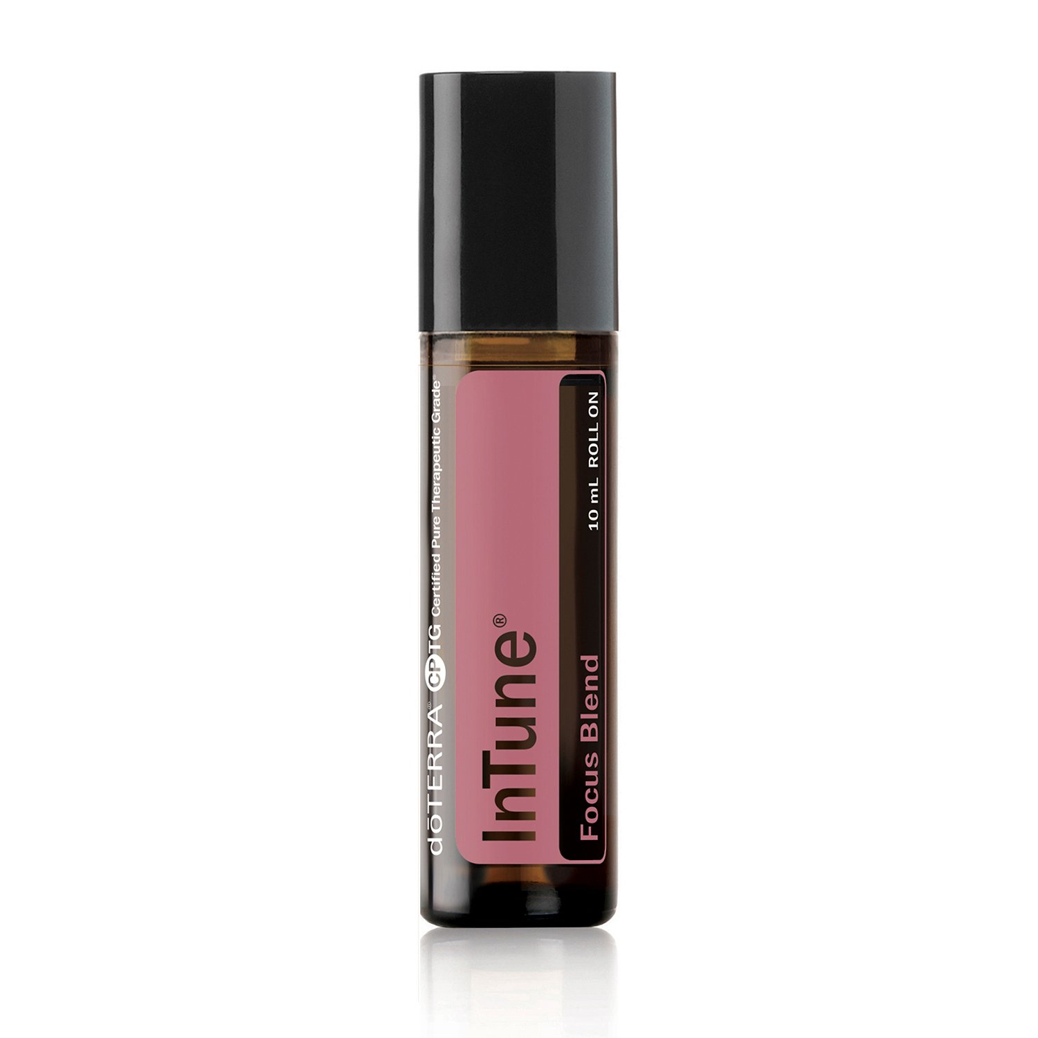 doTERRA - InTune Essential Oil Focus Blend Roll On - Supports Enhanced, Sustained Sense of Focus; Supports Efforts to Pay Attention or Stay On Task; For Topical Use - 10 mL