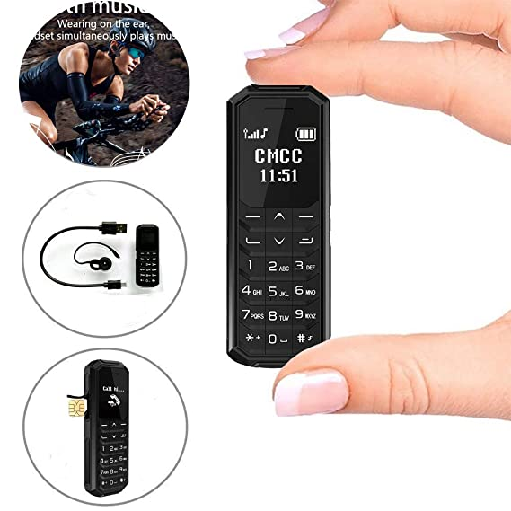 Fsmart M5 PRO Small Cell Phones for Kids Call Parents 0 66' Unlocked Tiny  GSM Phone(Negro)