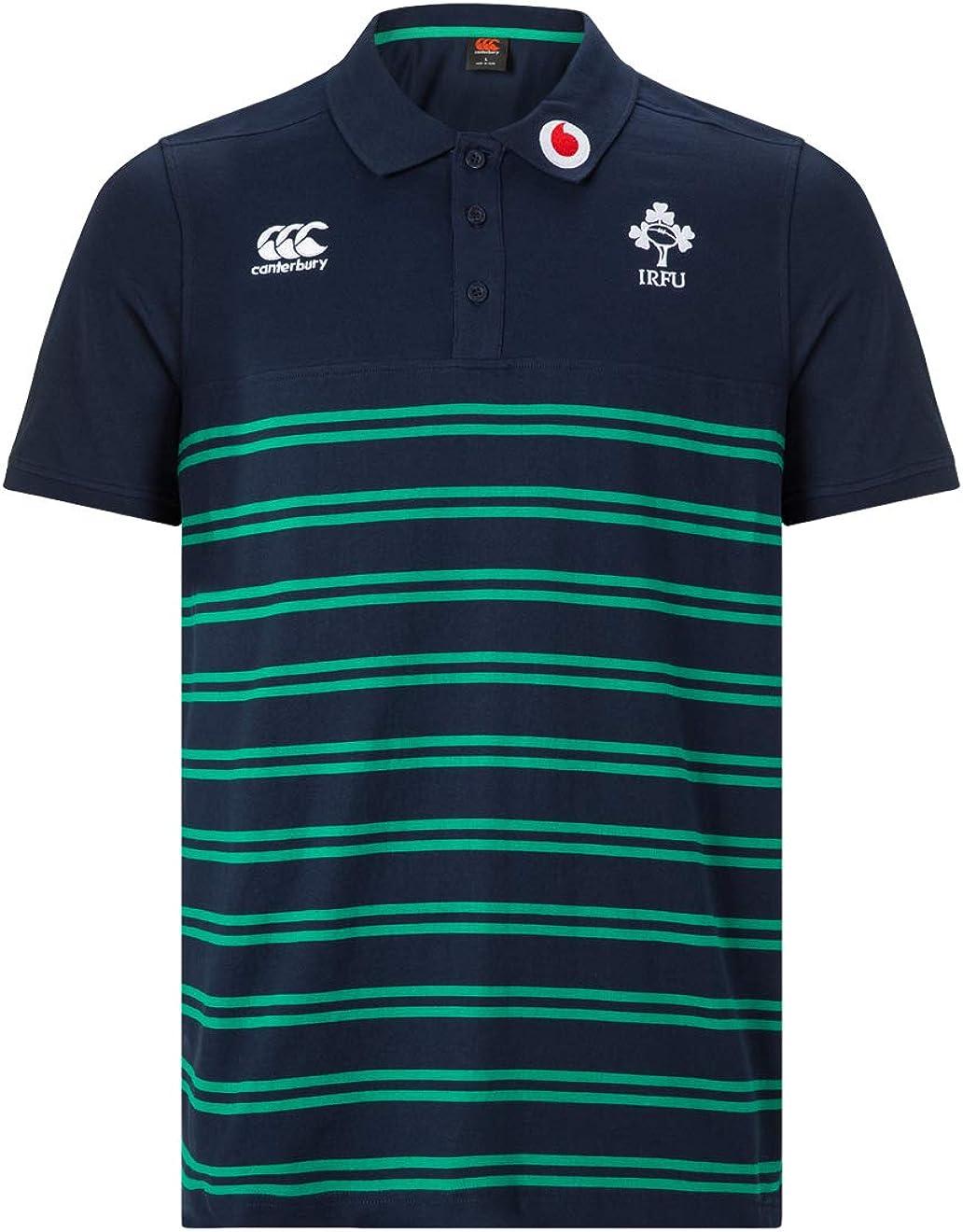 Canterbury Official Ireland 18/19 Cotton Stripe Polo de Rugby Hombre: Amazon.es: Ropa y accesorios