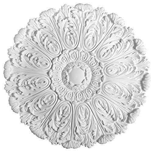 American Pro Decor European Collection 29-1/2 in. x 1-3/4 in. Acanthus Polyurethane Ceiling Medallion