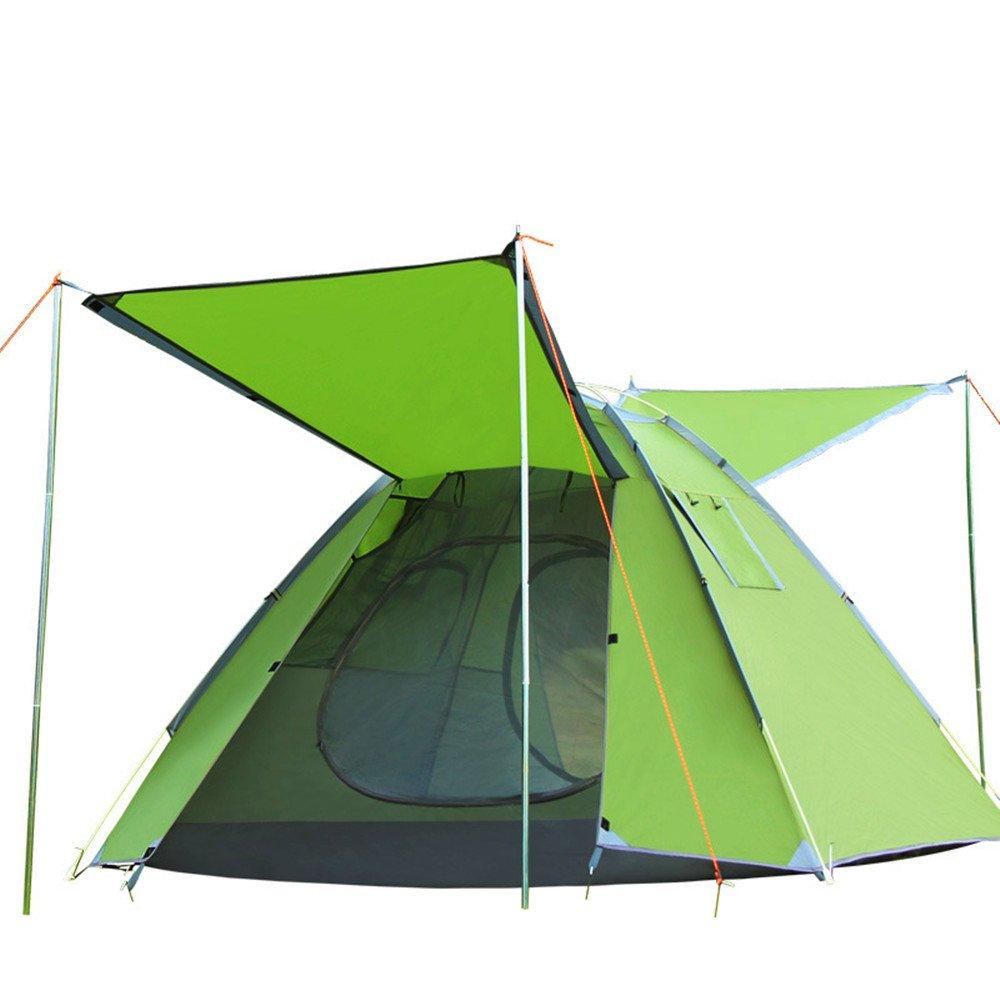 QAR 3-4 Personen Schnell Öffnen Konto Doppelt Atmungsaktiv Automatische Camping Zelt Emblem Antilope Outdoor-Lieferungen Zelt