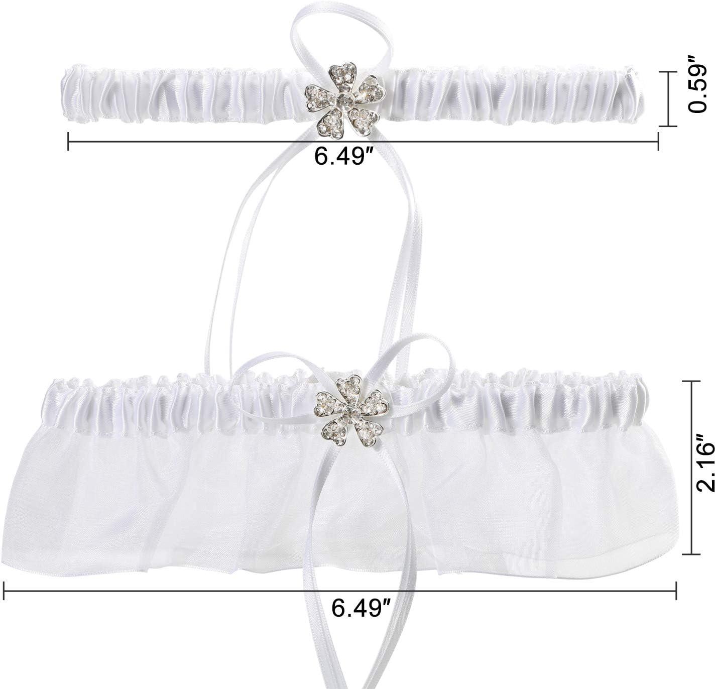 MWOOT Encaje Blanco Liga para Novia Liga Nupcial El/ástica Accesorios de Vestidos de Novia Regalo de Boda de la Novia para el Banquete de Boda