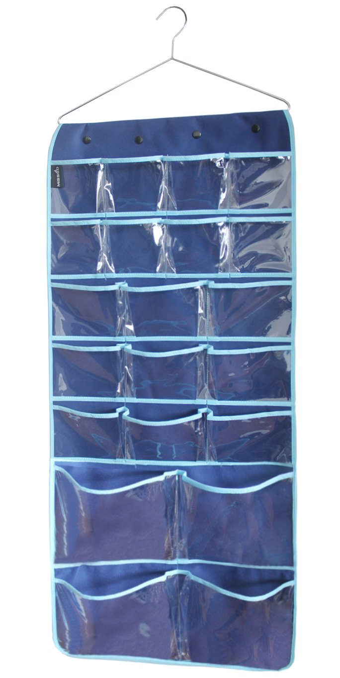 Misslo Hanging Closet Dual-Sided Organizers, 42 Pockets, 38.5 by 17.75-Inch SYNCHKG039529
