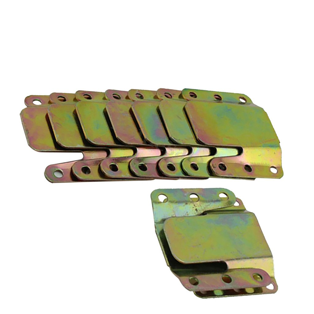 Baoblaze Edelstahl Mö belverbinder Bettverbinder Couchverbinder Metallverbinder verbinder Set