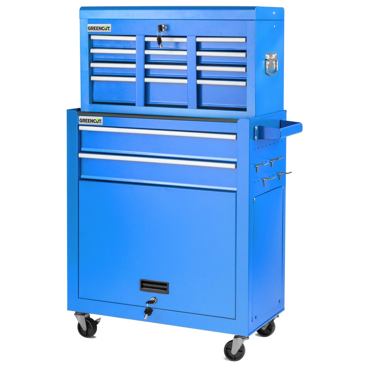 GREENCUT HEC1075A Carro para Herramientas Pro Armario Acero 4 Ruedas 10 cajones Azul, Blue: Amazon.es: Bricolaje y herramientas