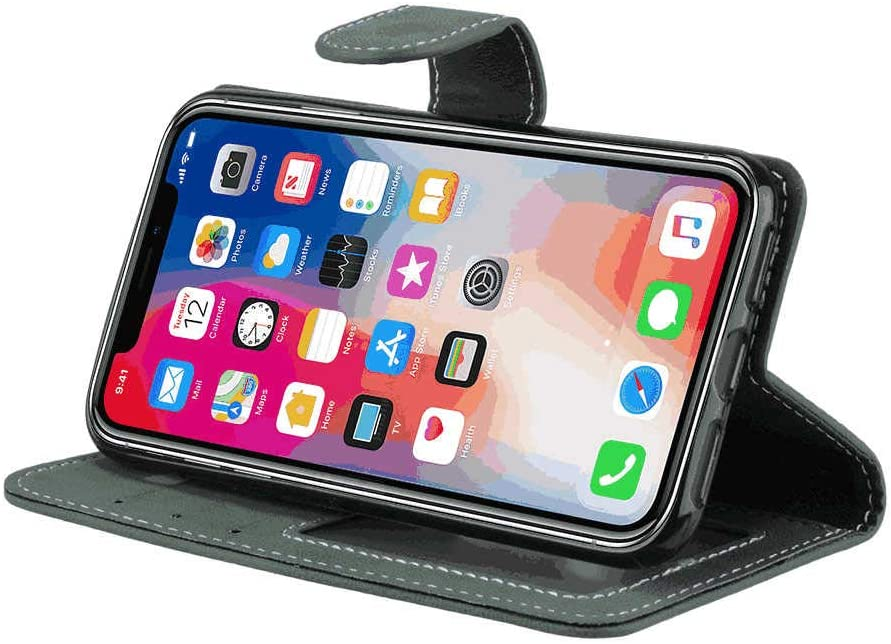 Cover for iPhone 8 Plus Leather Extra-Durable Business mobile phone case Card Holders Kickstand with Free Waterproof-Bag iPhone 8 Plus Flip Case