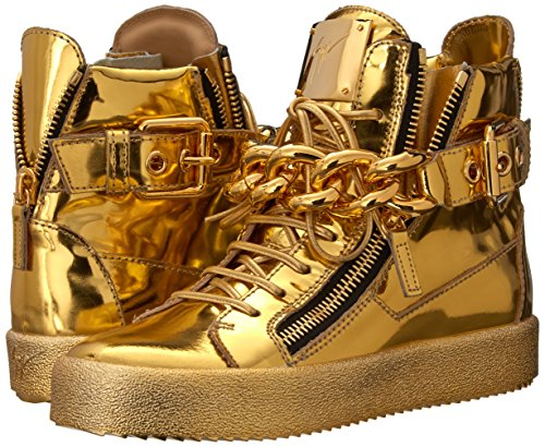 Giuseppe Zanotti Women's Fashion Sneaker, Mirror Oro, 6.5 M US
