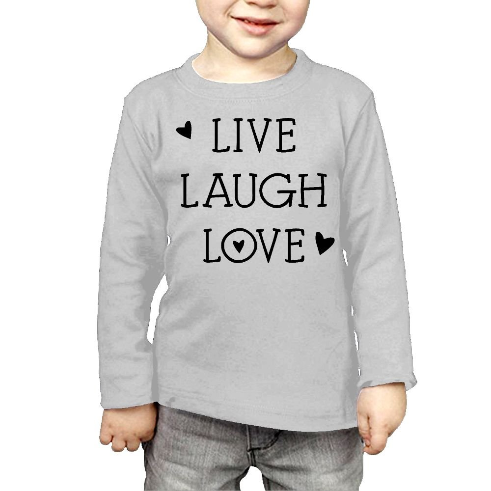 Baby Girls Little Boys Hearts Live Laugh Love ComfortSoft Long Sleeve Shirt