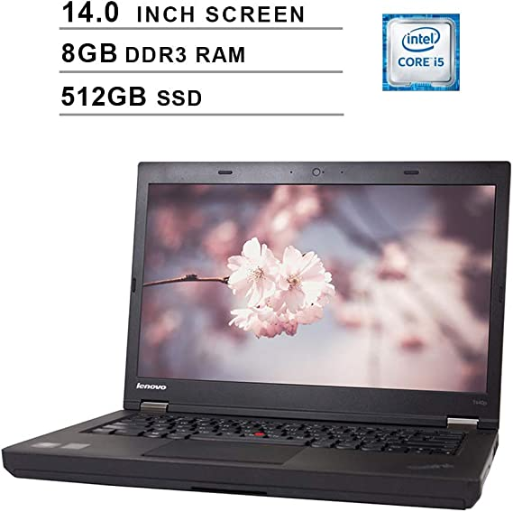 2020 Newest Premium Lenovo Thinkpad T440P 14 Inch Laptop (Intel Dual Core i5-4300M up to 3.3GHz