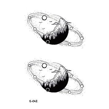 wyuen 5 hojas nuevo diseño temporal tatuaje planeta impermeable ...