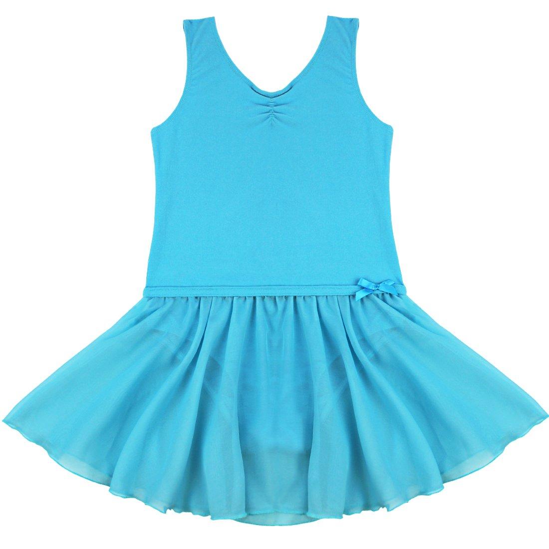 Tiaobug Mädchen Kinder Kleid Ballett Kleid Trikot Ballettanzug Bodys Gymnastikanzug Turnanzug Tanzkleid