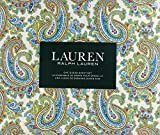 Lauren Ralph Lauren Sheet Set Cotton Blue Red Yellow Paisley Floral Pattern on White Background (Queen)
