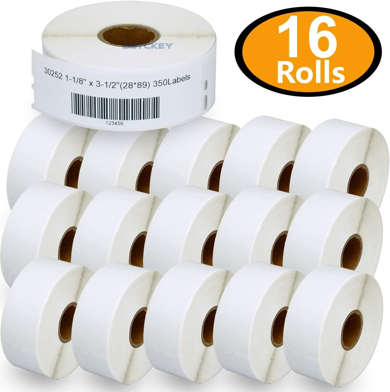 """Address Labels White 1-1//8/"""" x 3-1//2/"""" compatible for Dymo 30252 LabelWriter 320"""