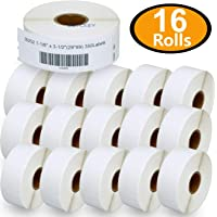 """BETCKEY - Compatible DYMO 30252 (1-1/8"""" x 3-1/2"""") Address & Barcode Labels - Compatible with Rollo, DYMO Labelwriter 450, 4XL & Zebra Desktop Printers[16 Rolls/5600 Labels]"""