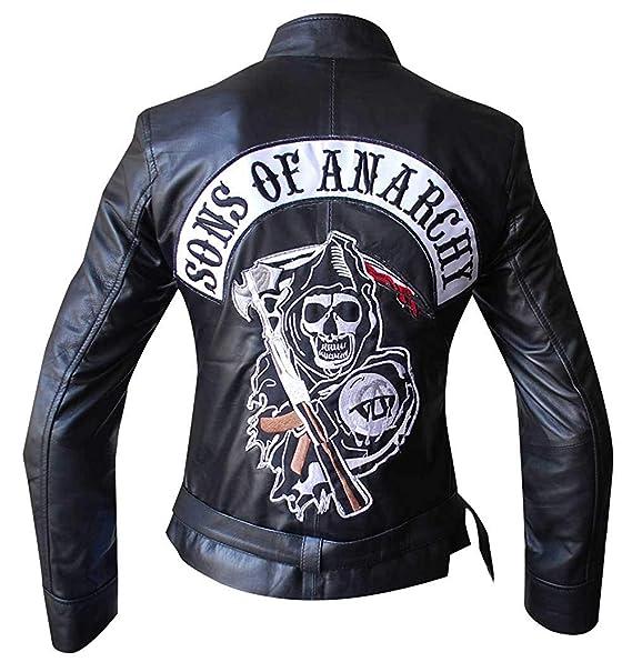 Amazon.com: SOA Sons of Anarchy Reaper - Chaqueta de piel ...