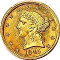 1845 D $5 Liberty Gold Five Dollar MS62 PCGS
