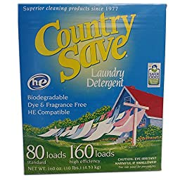 Gentle Powder Soap Laundry Detergent for Cloth Diapers HE, Country Save 10lbs 160 Load