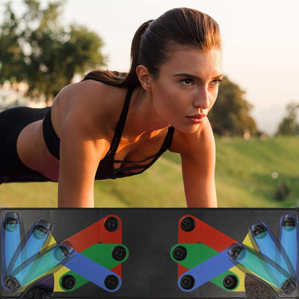 9 in 1 Body Building Complete Push Up Training System Fitness Comprehensive Exercise Workout Training Gym Exercise Pushup Stands Press Push Up