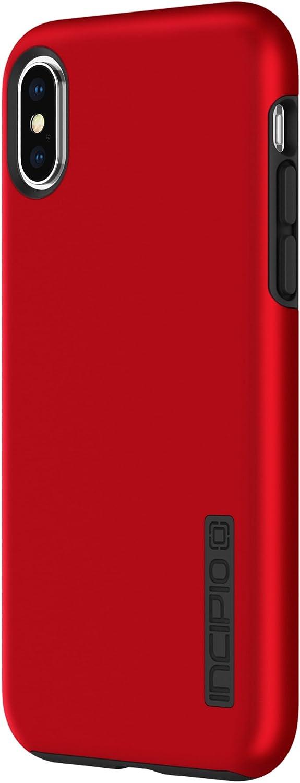 Incipio IPH-1629-RBK Apple iPhone X DualPro Case - Iridescent Red/Black