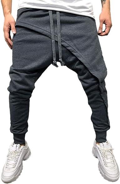 VPASS Pantalones para Hombre, Pantalones Moda Pop Casuales ...