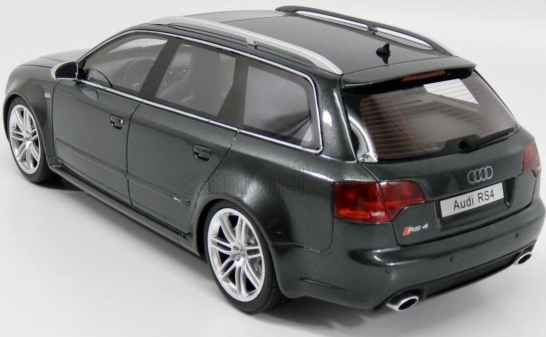 Otto Mobile –  Audi –  RS4 B7 Avant –  2006 Auto in Miniatura da Collezione, ot721, Grigio Metallo