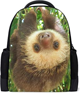 ALAZA Sloth Casual Backpack Waterproof Travel Daypack School Bag