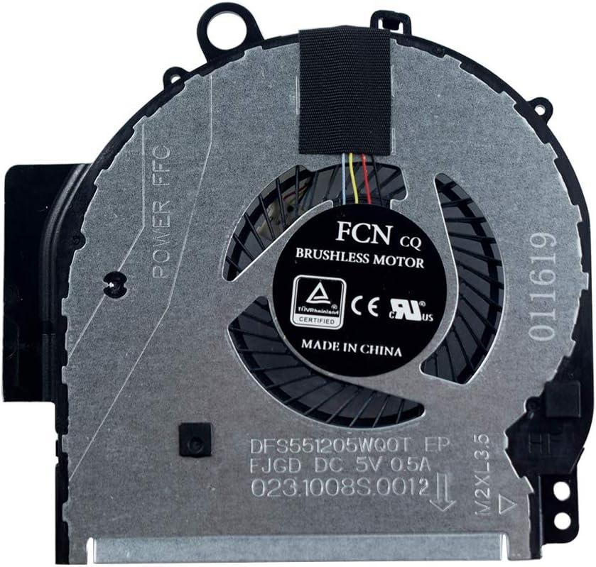 Replacement CPU Cooling Fan for HP Pavilion 14-BA 14T-BA 14M-BA 14-BA010CA 14M-BA011DX 14-BA013DX 14-BA018CA Laptop 924281-001