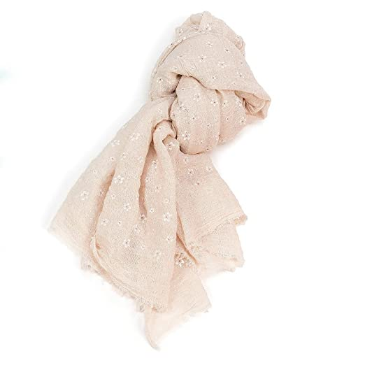 6e28a1a3125 Mini Flower Pattern Peach Scarf at Amazon Women's Clothing store: