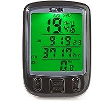dearlamp SD-563B SunDing - Velocímetro para Bicicleta, Resistente al Agua, con Visualización LCD Verde, para computadora de Bicicleta, SD - 563B