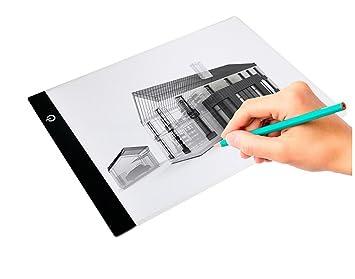 ELICE) caja de luz de calcetín, A4 LED tabla de dibujo portatil ...