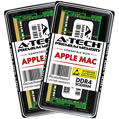 A-Tech 32GB RAM Kit for 2019 iMac (Retina 5K, 27-inch), 2018 Mac Mini - (2 x 16GB) DDR4 2666MHz PC4-21300 / PC4-21333 SODIMM Memory Upgrade Modules
