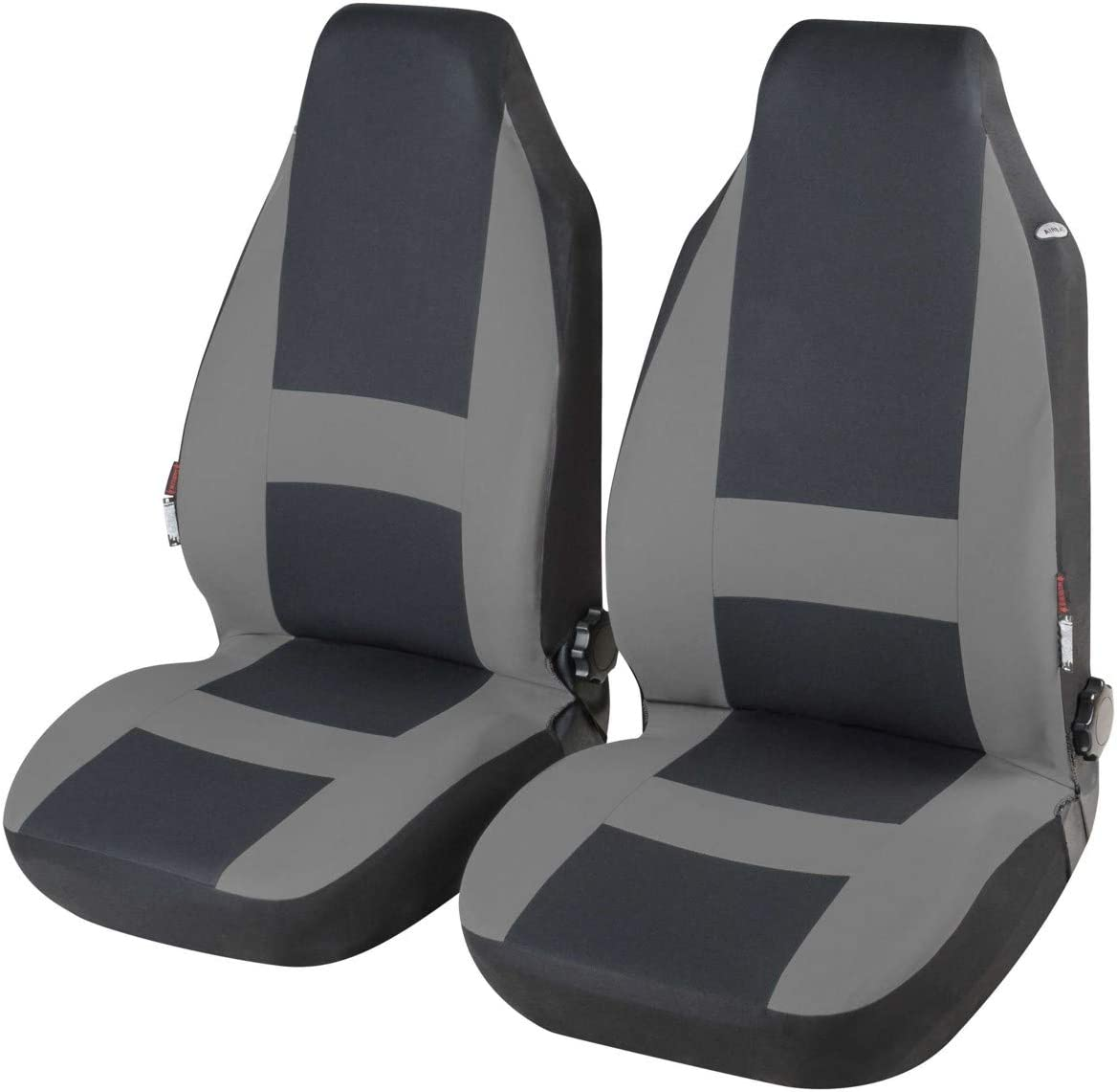 CarComfort modische Universal Polyester Highback KFZ Schonbez/üge Pocatello grau waschbar Highback Bezug 2 Vordersitze