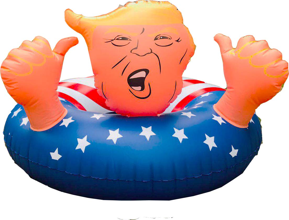 drembuilderToy Donald Trump 47'' Best Summer Inflatable Float Swimming Trump Ring, Fun Inflatable Trump Tube,Swim Float for Summer Fun by drembuilderToy