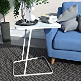 Diy Coffee Table and End Tables Lifewit End Table Side Snack Coffee Sofa Table Modern Tempered Glass Steel, White