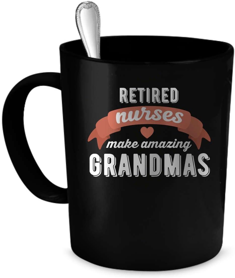Taza de café para enfermeras jubiladas, 11 oz. Regalo perfecto para tu padre, madre, novio, novia o amigo. Fabricado con orgullo en Estados Unidos.