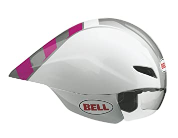 Bell Javelin Time - Casco de triatlón, color Wht/Magenta, tamaño Small