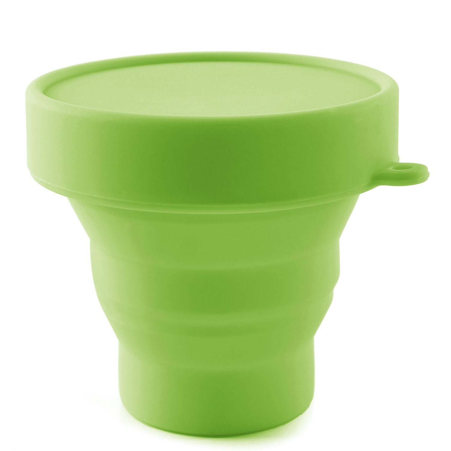 Collapsible Silicone Cup Foldable Sterilizing Cup for Menstrual Cup for Moon Cup (Green-N)