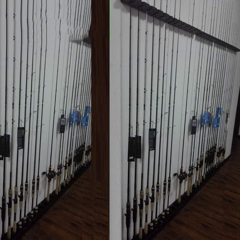 Patgoal Fishing Rod Display Fixed Frame Plastic Fishing Rod Racks Bracket Reel Combos Holder Fish Raft Storage Rack Wall Installation Vertical Truss