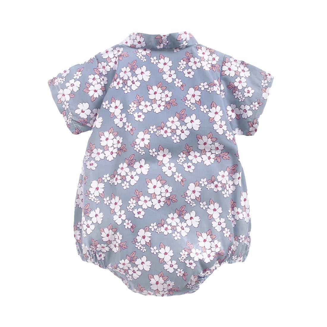 PAUBOLI Baby Kimono Romper Japanese Sakura Cotton Infant Comfy Pajamas 3-24 Months