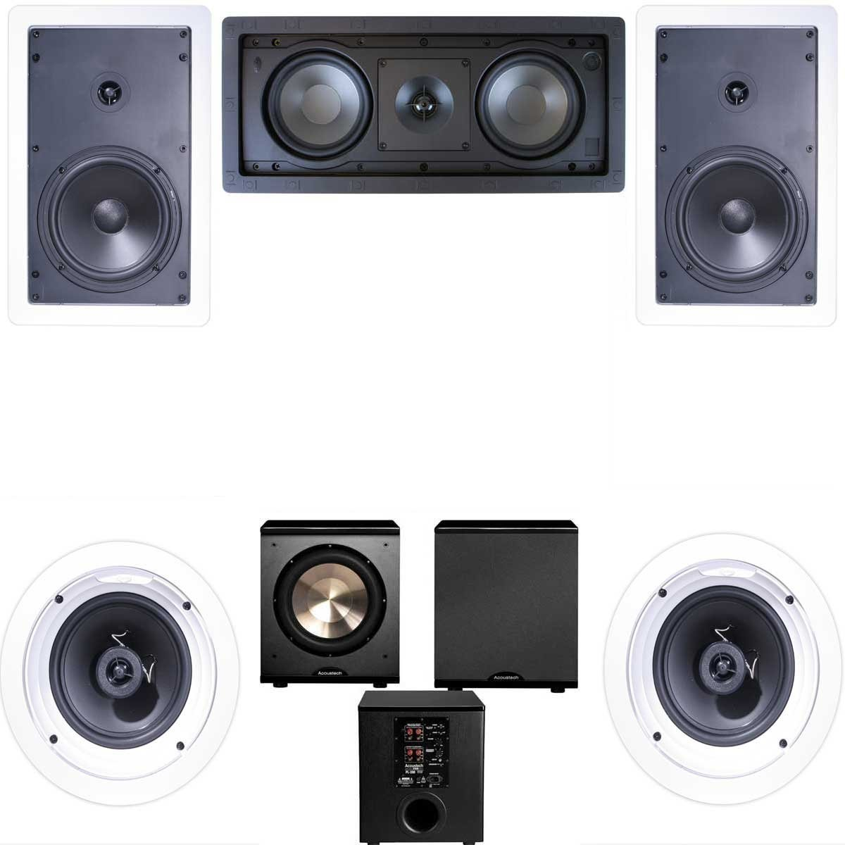 Klipsch R-1650-W In Wall #2 5.1 Home Theater System(R-2502-W)-FREE PL-200 by Klipsch