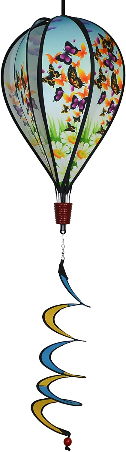 In the Breeze Butterfly Swarm 6-Panel Kinetic Hot Air Balloon Wind Spinner